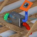 Loft dehumidifier with fresh air inlet
