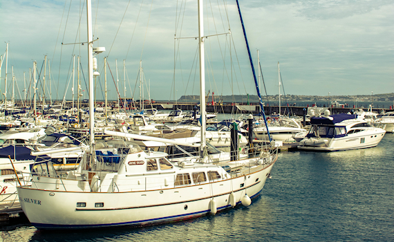 boats in harbour day